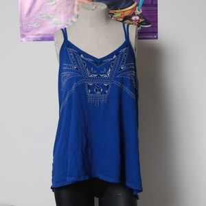 Blue Express embellished strappy top